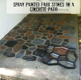 painted faux spray painted and more faux stone sprays driveways. Black Bedroom Furniture Sets. Home Design Ideas
