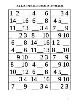 math worksheet : missing number 1 20  number worksheets worksheets and math centers : Missing Number Math Worksheets