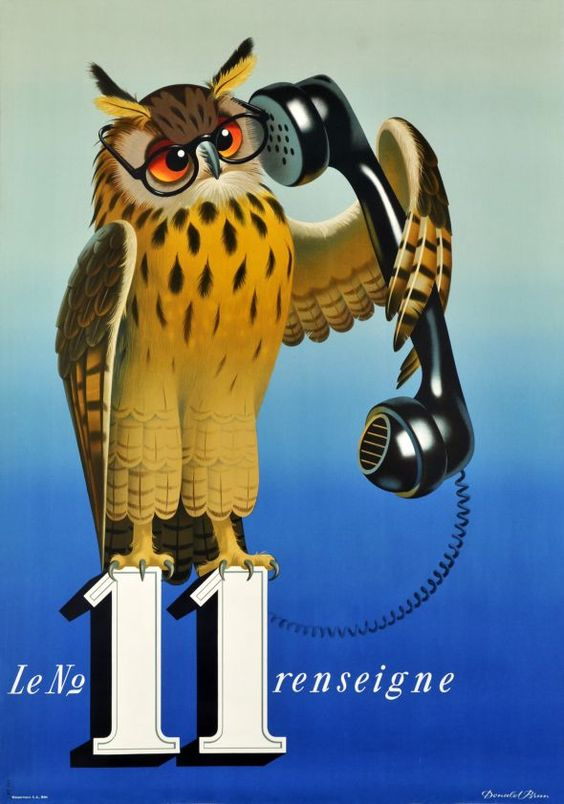 """Number 11 provides information""  By Donald Brun  1950:"