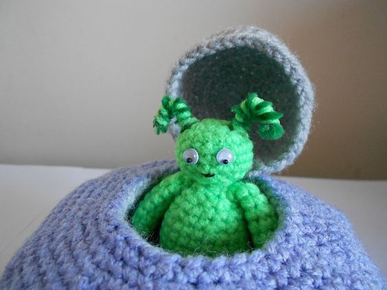 aliens amigurumi pdf crochet pattern