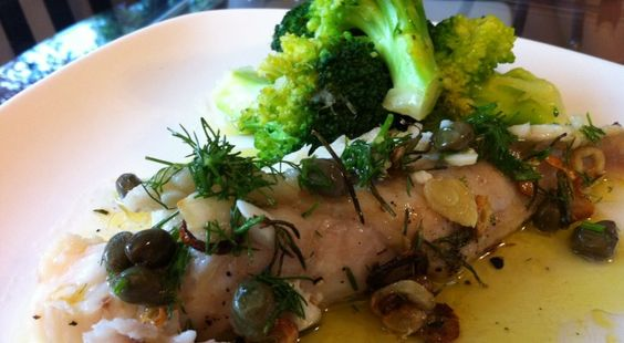 Monkfish with Rosemary and Dill