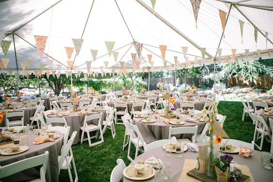 DIY Backyard BBQ Wedding Reception | Backyard Bbq, Wedding Reception