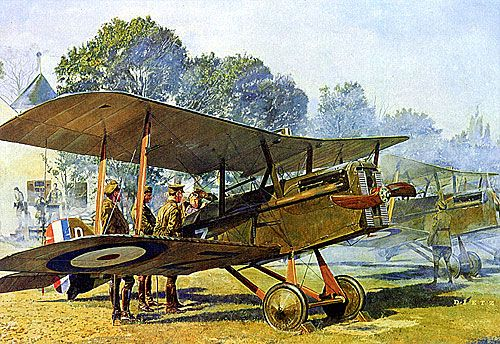 James Dietz: SE5s on WW I Airfield