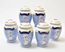 Pillsbury Dough Boy Spice Jar Set / 6 Danbury Mint RARE SET Minty!  2002