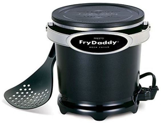 Electric Deep Fryer Kitchen Countertop Small Compact Non Stick Frying Food New #Presto