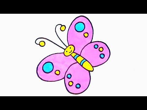 رسم سهل تعليم رسم فراشة بطريقة سهلة وبسيطة تعليم الرسم بطريقة سهلة وبسيطة Youtube Enamel Pins Pin