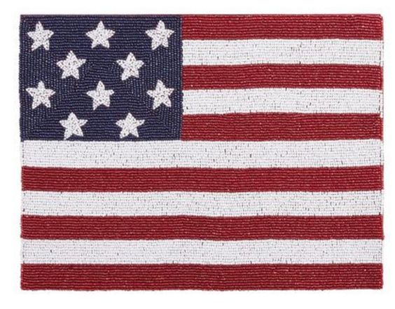American Flag Beaded Placemat