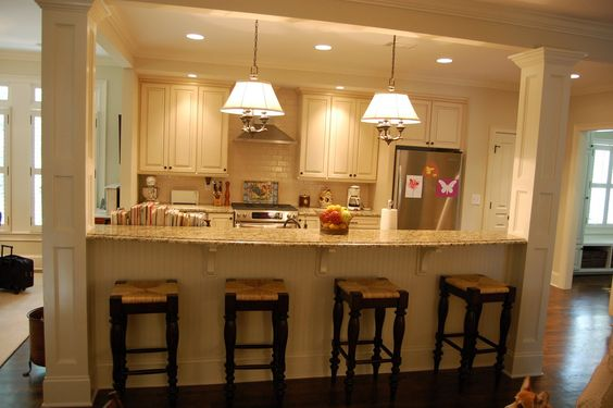 In Kitchen Columns And Kitchen Islands On Pinterest