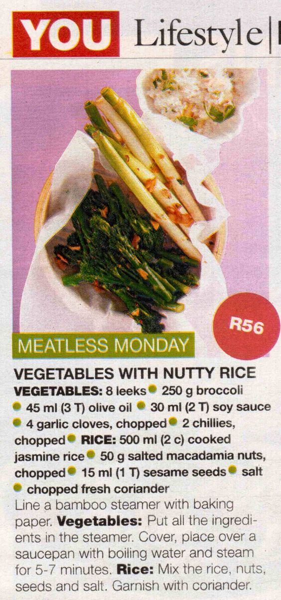 Vegetables with Nutty Rice