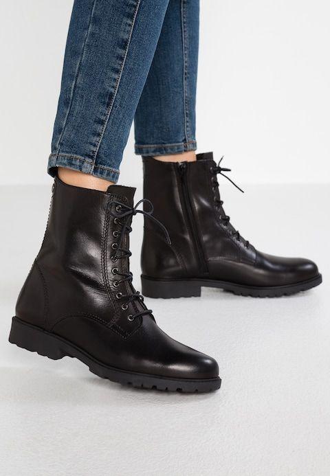 Tamaris Lace up boots black Zalando.co.uk | Lace boots