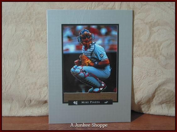 MIKE PIAZZA Super Slam 3D Type Photograph Portrait 1995 Baseball Fan Card Used  P733  http://ajunkeeshoppe.blogspot.com/