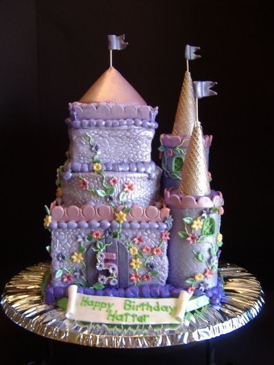 Castle Cake This Cake Is For A 5 Year Old Girl Who Loves