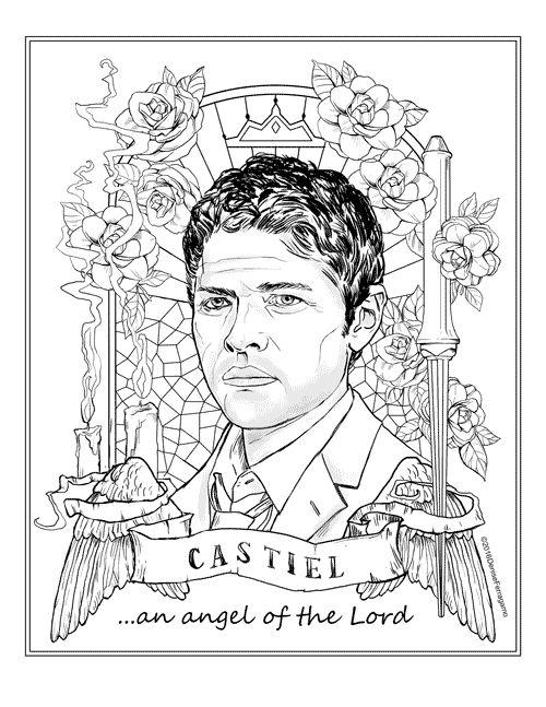 castiel coloring pages - photo#11