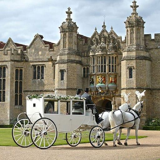 Our Horse Drawn Carriages Include White Carriages Dark Carriages Group Bespoke Carriages The Ostler I Horse And Carriage Wedding Horse Carriage Carriages
