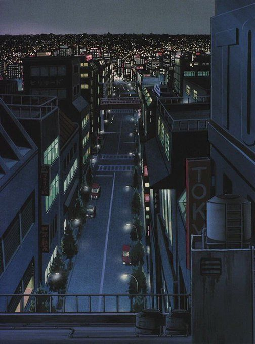Aesthetic Anime Pictures City In 2020 Aesthetic Anime Anime City Anime Scenery