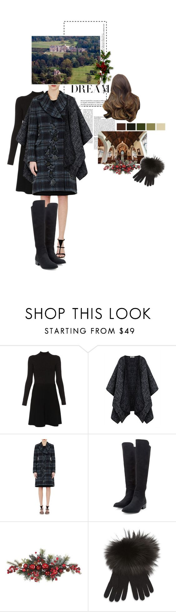 """Untitled #2405"" by duchessq ❤ liked on Polyvore featuring Paule Ka, Alberta Ferretti, Nearly Natural and Terzakou Paris"