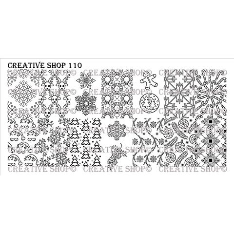 Creative Shop- Stamping Plate- 110