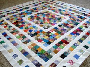 What a beautiful way to use up scraps!  I like this!!