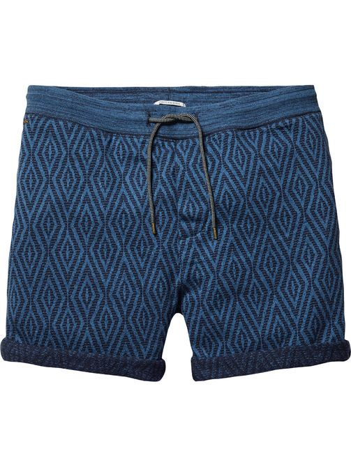 Shorts de chándal con diseño de jacquard