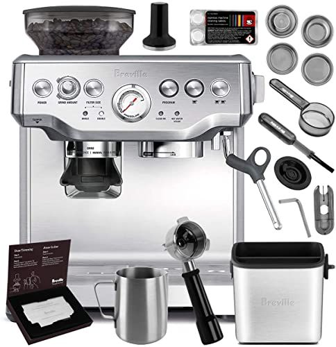 New Breville Bes870xl Barista Express Espresso Machine Brushed Stainless Steel Manufacturer S Warranty Knock Box Mini Online Shopping Chictrendyfashion In 2020 Breville Espresso Machine Espresso Machine Breville Espresso