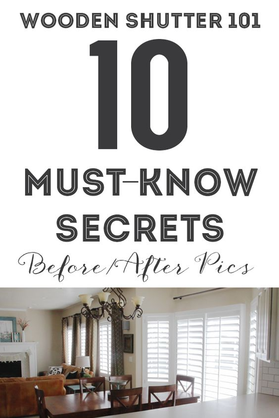 WOODEN SHUTTERS 101: 10 MUST-Know Secrets (BEFORE/AFTER ...