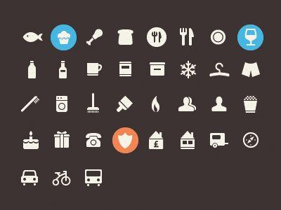 Glyph icons pack by Pavel Maček