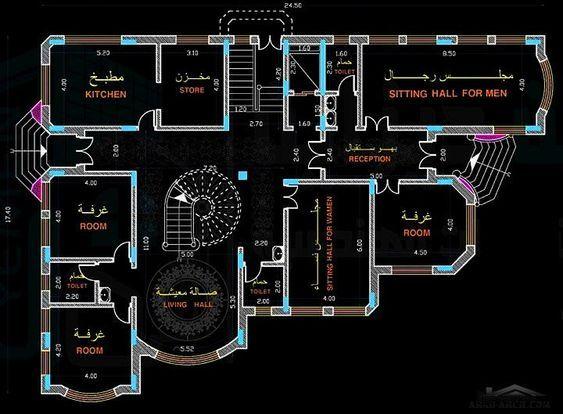 تصميم فيلا سكنية مساحة الارض ٦٦٠ متر مربع مكتب يمن ديزاين للاستشارات الهندسية وخدمات البناء Arab A Square House Plans Drawing House Plans My House Plans