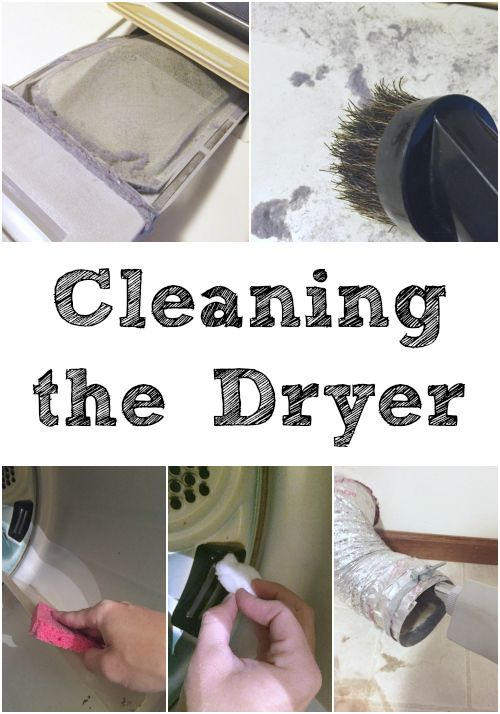 Cleaning the Dryer: