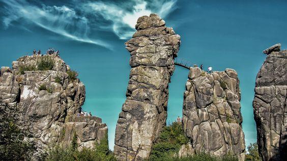 Externsteine in Germany #landscape #nature