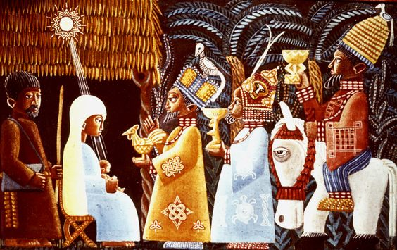 Nigerian Nativity Scene. SMA Museum, Tenafly.