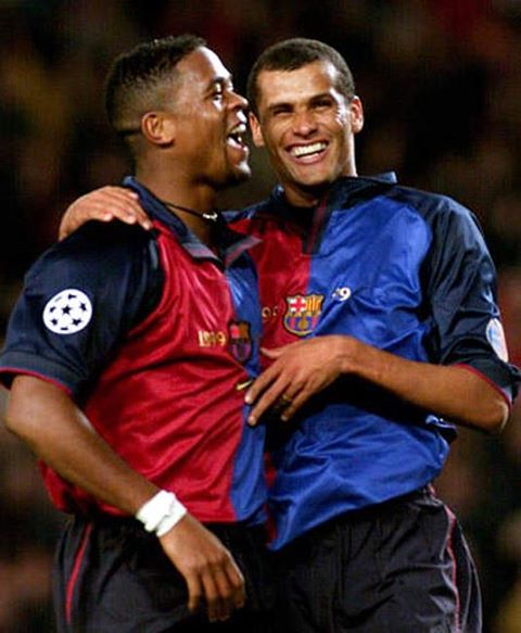 Patrick Kluivert and Rivaldo starred in the 1999 FC Barcelona Centennial Jersey.