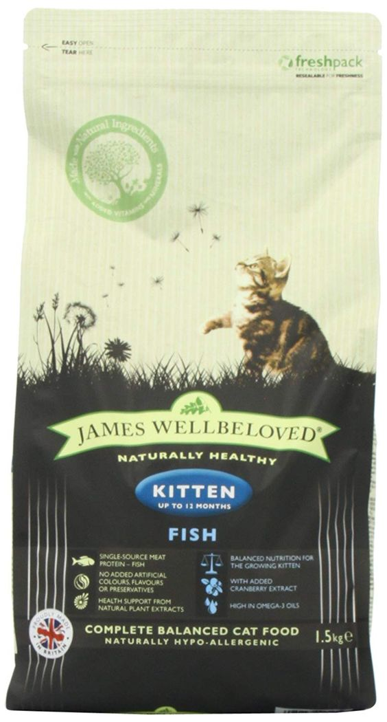 James Wellbeloved Kitten Food Fish And Rice 1 5kg Hope That You Enjoy Our Picture This Is Our Affiliate Lin Kitten Food Cat Food Reviews Cat Food Allergy