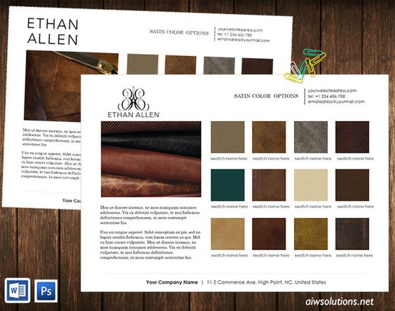 Colour swatches-product line sheet Colour swatches, Products and