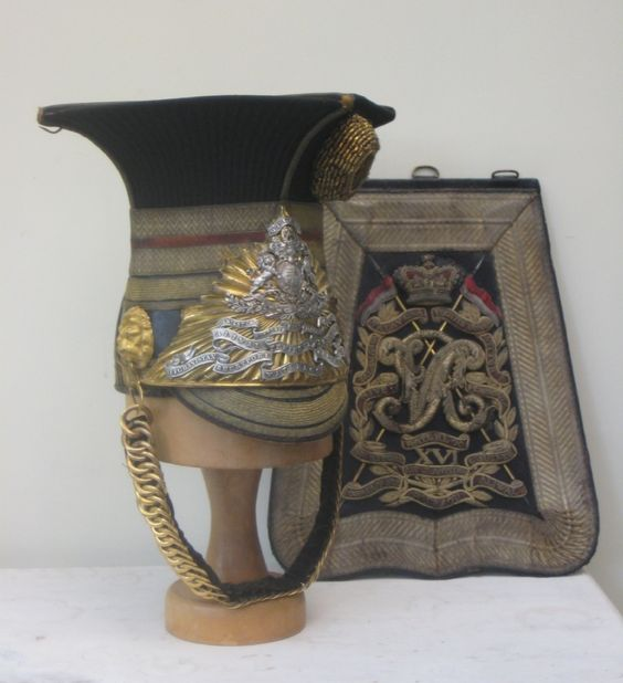 An Officer's 1846 pattern Czapka and sabretache - 16th Lancers
