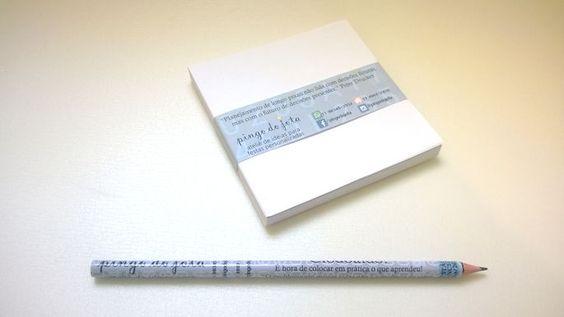 Kit Lápis + Papel para Rascunho