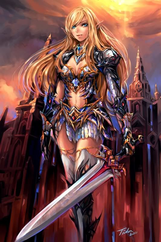 """Light Elf Warrior of Lineage 2. Got to love that """"protective"""" armor. Great coverage!"""