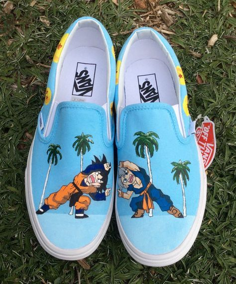 Dragonball Z Custom Hand-Painted Van's Shoes (Any Size, Men's or ...