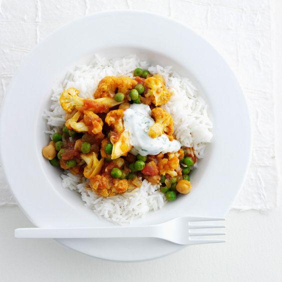 Découvrez la recette Assiette végétarienne de légumes à l'indienne sur cuisineactuelle.fr.