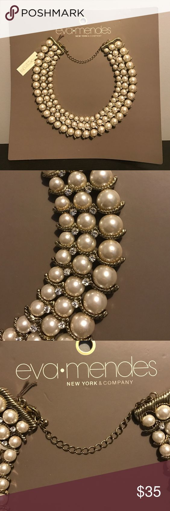 New York & Company Eva Mendes Pearl Necklace Classic necklace from the New York & Company Eva Mendes Collection! New with tags. Matching bracelet in separate auction! New York & Company Jewelry Necklaces