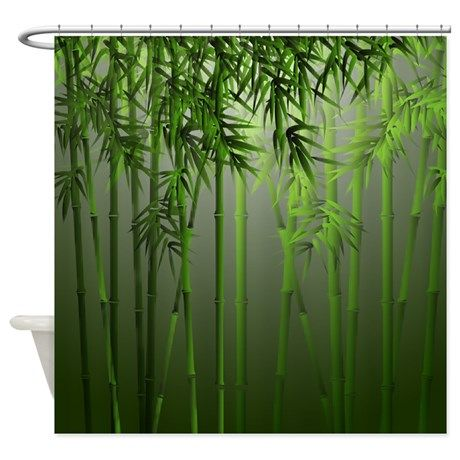 Bamboo Jade Mist Shower Curtain | Shower curtains, Mists and Jade