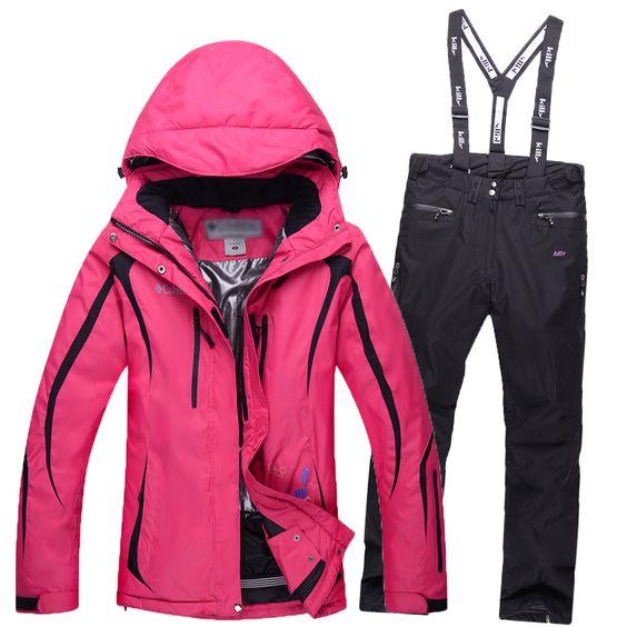 Pas cher Femmes combinaison de Ski femmes vestes d'hiver + pantalons de randonnée en plein air snowboard étanche combinaison de Ski coupe   vent chaud Ski ensembles de vêtements, Acheter  Ski vestes de qualité directement des fournisseurs de Chine:  Nous garantissons la authentique original unique, si vous avez n'importe quel mécontentement à cet article, nous a