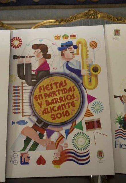 Fiestas en Partidas y Barrios Alicante 2018:  D. Juan Diego Ingelmo Benavente, con el lema 'Fiesta'.