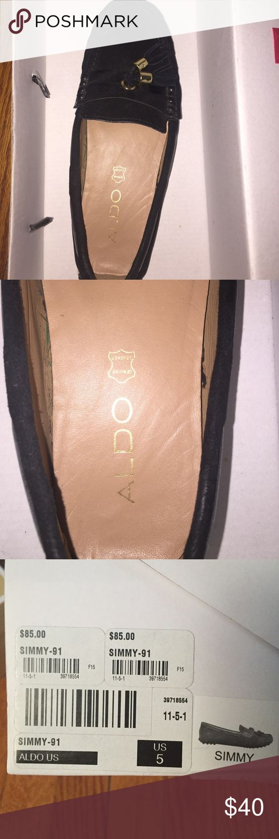 Aldo Loafers Worn a couple of times. Still in good condition!!! Great to wear with nice casual clothes even for a night out. Very stylish! Aldo Shoes Flats & Loafers