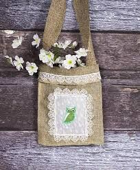Resultado de imagen de bolsos arpillera:
