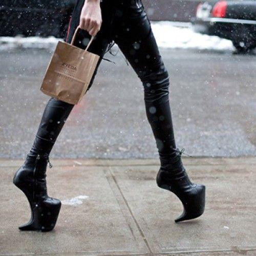 Heelless Leather Shoes Men