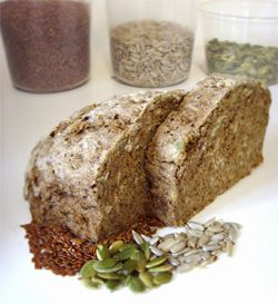 Hearty Whole Grain Bread Recipe.  the website is a little messed up, but the recipe looks good enough i'm going to try to figure out the measurements