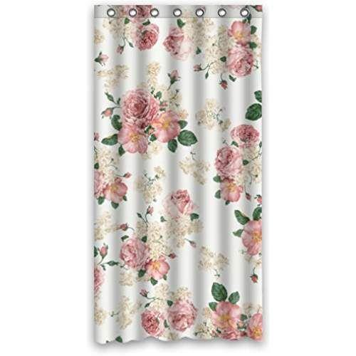 Vintage Design New Style Romantic Rose Flower Polyester Bathroom