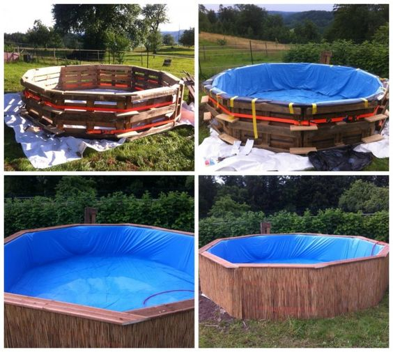 Diy 10 pallet swimming pool diy pinterest diy pallet nice and pools for Make a swimming pool out of pallets