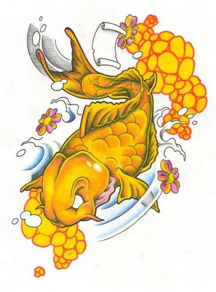 Pez Koi Leyenda. Amazing Anillo De Pez Koi O Pescado En Conejo ...