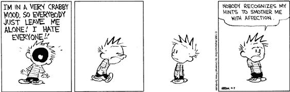 Love languages - Calvin and Hobbes